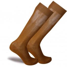 """Ramses"" - Calze da Uomo Lunghe in Filo di Scozia, a coste."
