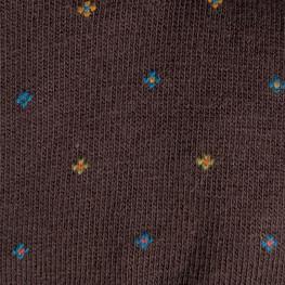 """""""Coffee Springs"""" - calze lunghe in caldo cotone fantasia"""