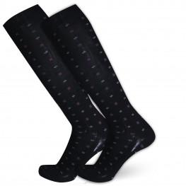 """""""Chedar Bluff"""" - calze lunghe in caldo cotone fantasia"""