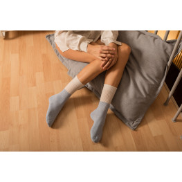 Pure Cashmere - Calzini Donna Bicolore con Cashmere