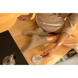 Pure Cashmere - Calzini Donna con Cashmere e rombi in rilievo