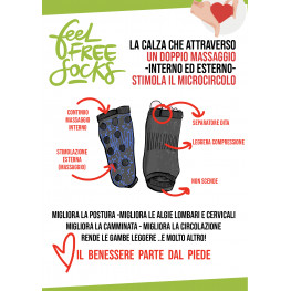 FEEL FREE SOCKS- LA CALZA DEL BENESSERE