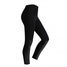 Leggings Bimba con inserti in pelle