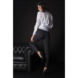 Leggings Termici in Cotone Felpato con Tasche
