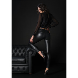 LEGGINGS  DONNA IN SIMILPELLE