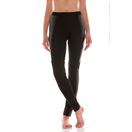 "Leggings ""Biker"" con inserti in eco-pelle"