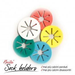 Sock Ring Holders - Accoppia Calzini-Mai più calzini persi nel bucato!!! - Confezione da 5 pezzi