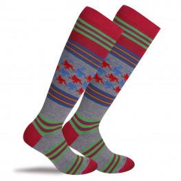 """""""Albertville"""" - calze lunghe in caldo cotone fantasia"""