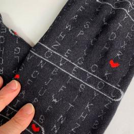 """I Love You"" - calze lunghe in caldo cotone fantasia"