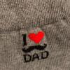 """CONFEZIONE REGALO con 4 paia di calze lunghe, 1 blu + 3  a tema """"I Love DAD"""""""