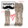 """I Love DAD"" - calze lunghe in caldo cotone fantasia"