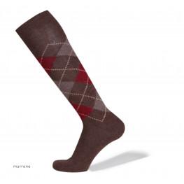 """Aberdeen"" - Lana & Cashmere - calze da uomo lunghe a rombi"